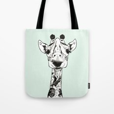 Giraffe Tattooed  Tote Bag