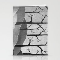 Abstract Forest Scene Stationery Cards