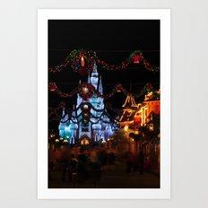 Christmas Castle I Art Print