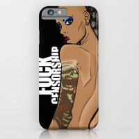 iPhone & iPod Case featuring Fuck Censorship by BinaryGod.com