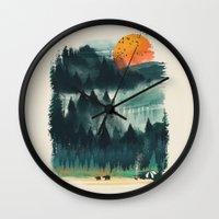 Wilderness Camp Wall Clock
