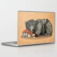 autumn Laptop & iPad Skins featuring Huntress by Sandra Dieckmann