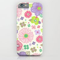 iPhone & iPod Case featuring happy flowers by Berreca