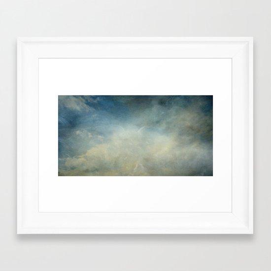 Drifting Clouds Framed Art Print