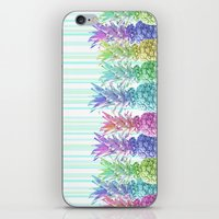 Pastel Jungle and Stripes iPhone & iPod Skin