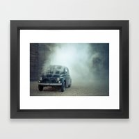 cloud car Framed Art Print