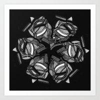 spiralled Art Print