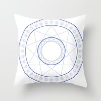 Anime Magic Circle 9 Throw Pillow