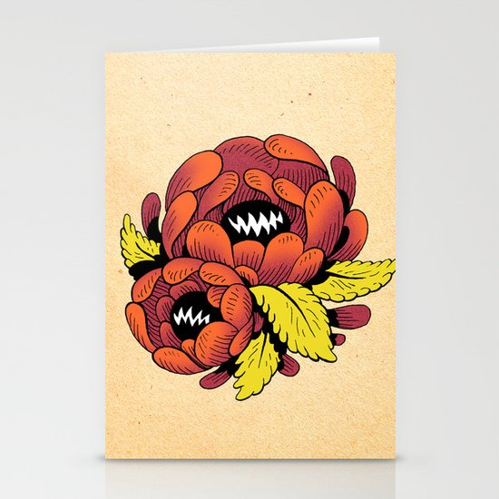 Grim Blossom Stationery Card