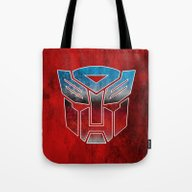 Tote Bag featuring Autobots by Some_Designs