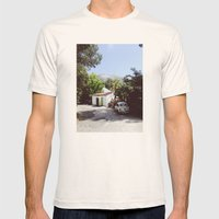Hollywood, California Mens Fitted Tee Natural SMALL