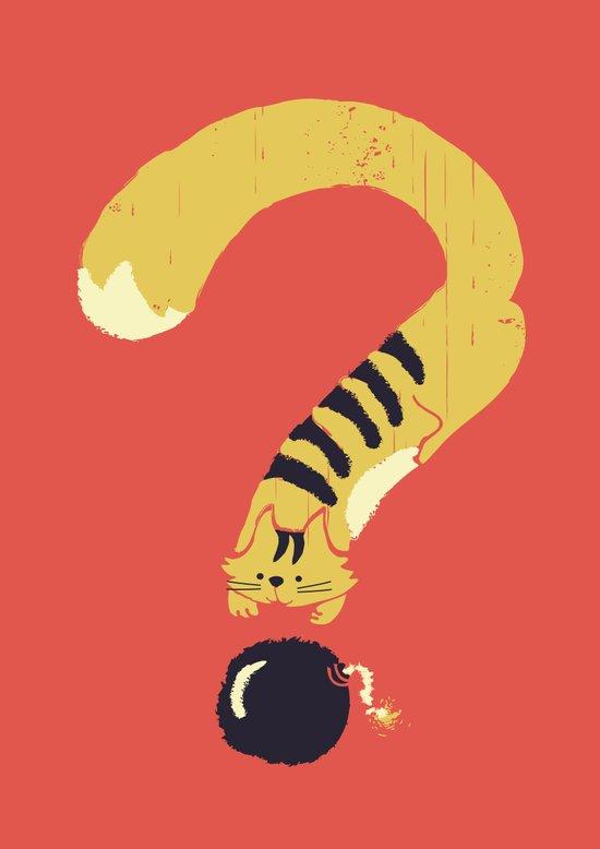 Question Mark (Curiosity Kills The Cat) Art Print