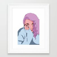 Pop Girl Framed Art Print
