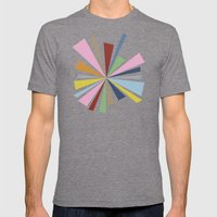 Star Burst  Mens Fitted Tee Tri-Grey SMALL