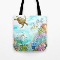 Turtle Reef Tote Bag