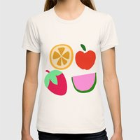 Fruit Salad Womens Fitted Tee Natural SMALL