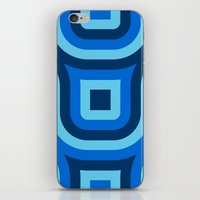 Blue Truchet Pattern iPhone & iPod Skin
