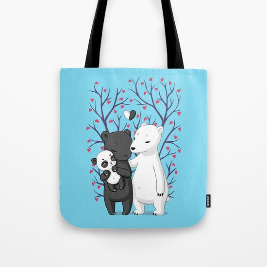Bear Family Tote Bag