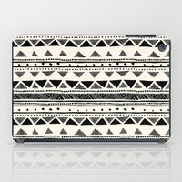 Tribal Vintage Stripe Bl… iPad Case