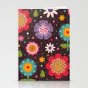 Floral seamless pattern. Stationery Cards