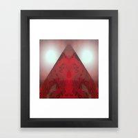 FX#412 - Red Pyramid Bri… Framed Art Print