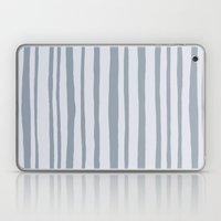 Into the Woods grey Stripes Laptop & iPad Skin
