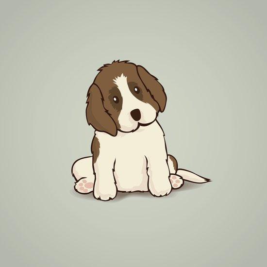 Saint Bernard Dog Illustration Art Print
