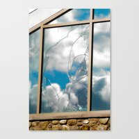 Smashed Glass Canvas Print