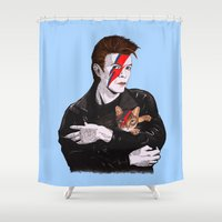 David & The cat Shower Curtain