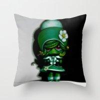 Lil' Medusa Throw Pillow