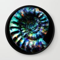 Fossilized Ammonite Wall Clock