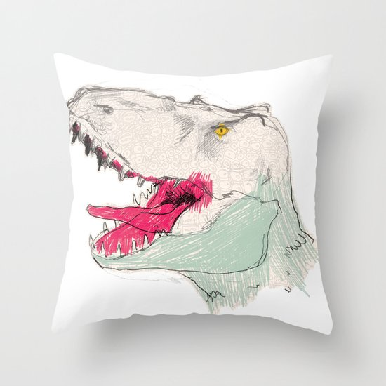 JURASSIC PARK Throw Pillow