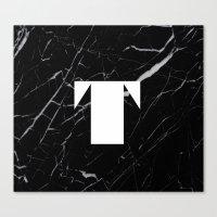 Black Marble - Alphabet … Canvas Print