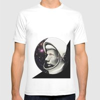 Astronaut Mens Fitted Tee White SMALL