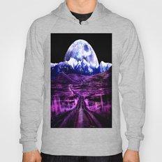 Highway to Eternity (moon mountain) Fuchsia Hoody