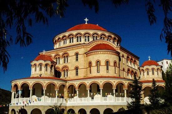 St. Nectarios of Aegina Orthodox Church, Aegina, Greece Art Print