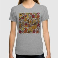 Creatures! Womens Fitted Tee Athletic Grey SMALL