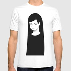 normal girl  Mens Fitted Tee White SMALL