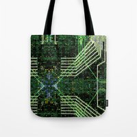 Circuit board very green zoom Tote Bag