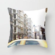 Yellow Cab Throw Pillow