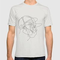 Dillas Mens Fitted Tee Silver SMALL