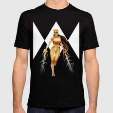 Yellow Ranger Mens Fitted Tee Black SMALL
