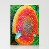 Red Toadstool Stationery Cards