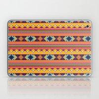 Navajo blanket pattern- orange Laptop & iPad Skin