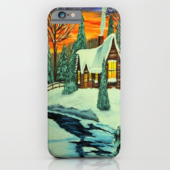 Winter night iPhone & iPod Case