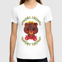 Betty the Little Bear Princess Womens Fitted Tee White SMALL