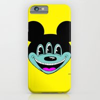 iPhone & iPod Case featuring ANOTHER MICKEYES.  (Pink Tongue). by Dave Bell