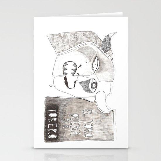 El toro que quería ser torero Stationery Card