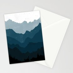 Mists No. 6 - Ombre Blue Ridge Mountains Art Print  Stationery Cards