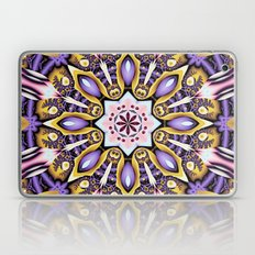 Kaleidoscope in purple, pink, gold and blue Laptop & iPad Skin